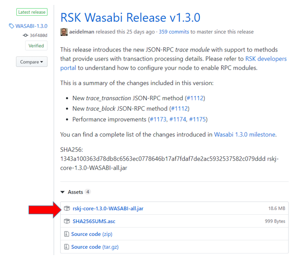 Download last RSK release
