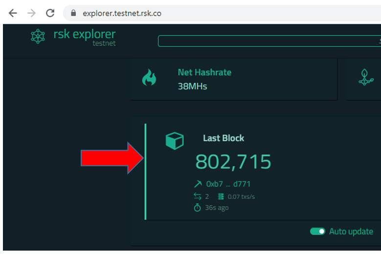 explorer testnet block number